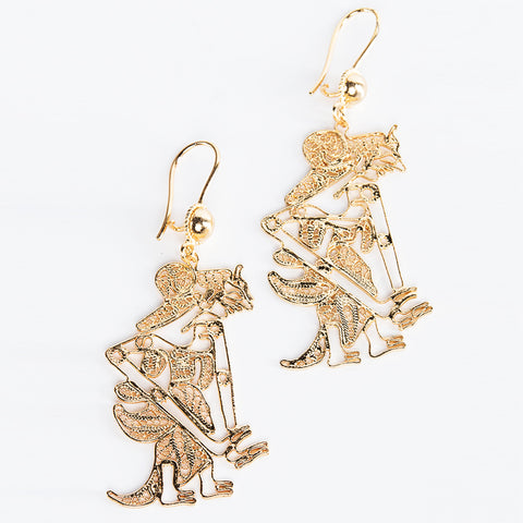 Gold-Plated Sita Earrings