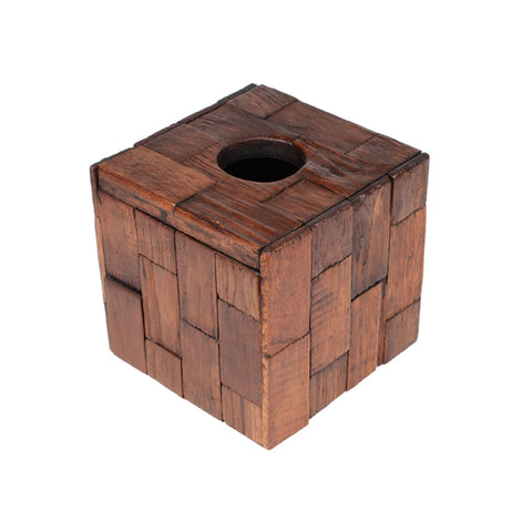 Wooden Tissue Box Holder - Design C
