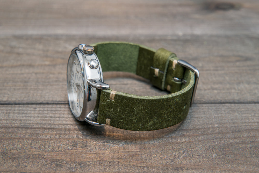 Badalassi Carlo, Pueblo leather watch strap. Hand-made to order in Finland. - finwatchstraps