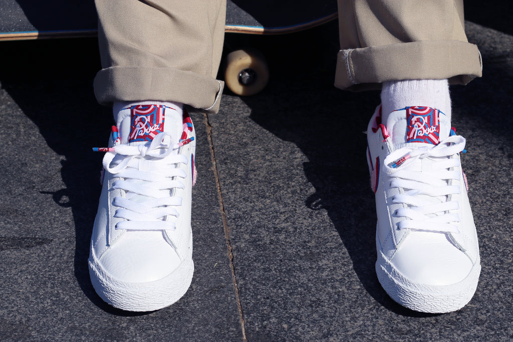 Nike sb blazer x parra, amigos skate shop, on foot lookbook