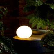 Zerodieci T7 glass globe table light from Prandina