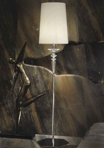 Black clear or purple crystal floor lamp
