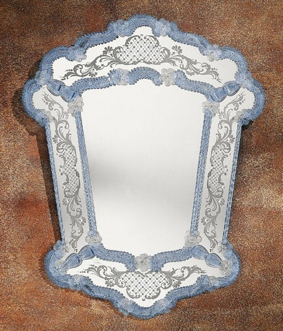 17th century style custom colour Venetian mirror