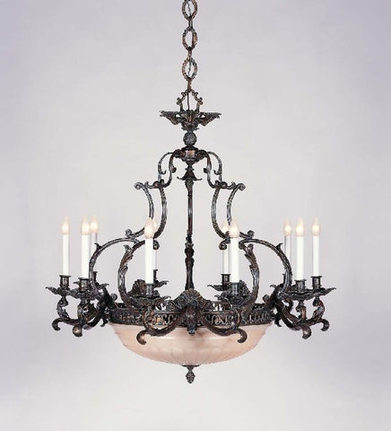 French Gold Bespoke Chandelier