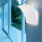 Light Volume white fabric wall light from Prandina in 3 sizes