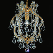 Cut Crystal Ceiling Pendant with gold-plated frame
