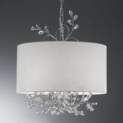 Swarovski Strass crystal ceiling pendant with a cream shade