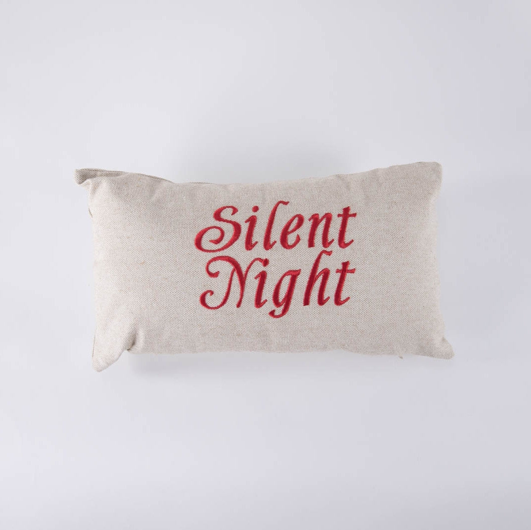 Silent Night Pillow