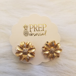 Midas' Flower Stud Earrings
