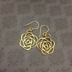 BREATHE BRAVELY Large Rose Earrings