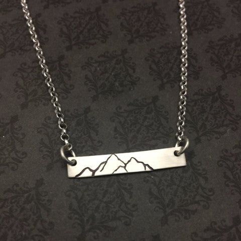 """Mountain"" Sterling Bar Necklace"