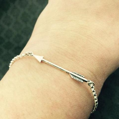 Sterling Arrow Bracelet - Breathe Bravely - Giving Voice to Cystic Fibrosis