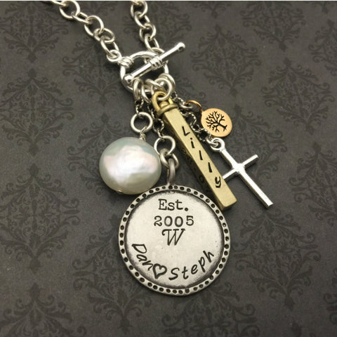 Sophisticated Family Charm Necklace