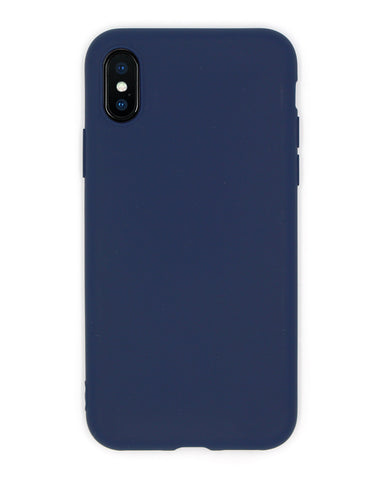 Silicone Navy Blue iPhone Case - Coverlab