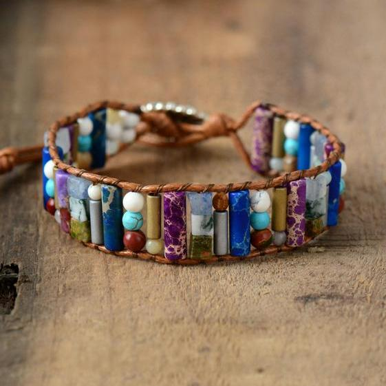 Non-Leather Crystal Energy Bracelet
