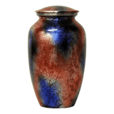 Safe passage Urns blended mirage blue & red brass funeral urn for ashes