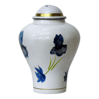 Safe Passage Urns White meadows brass cremation urn for ashes funeral