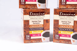 Teeccino - 4 Pack Classic Roasted Herbal Tea Sampler Box