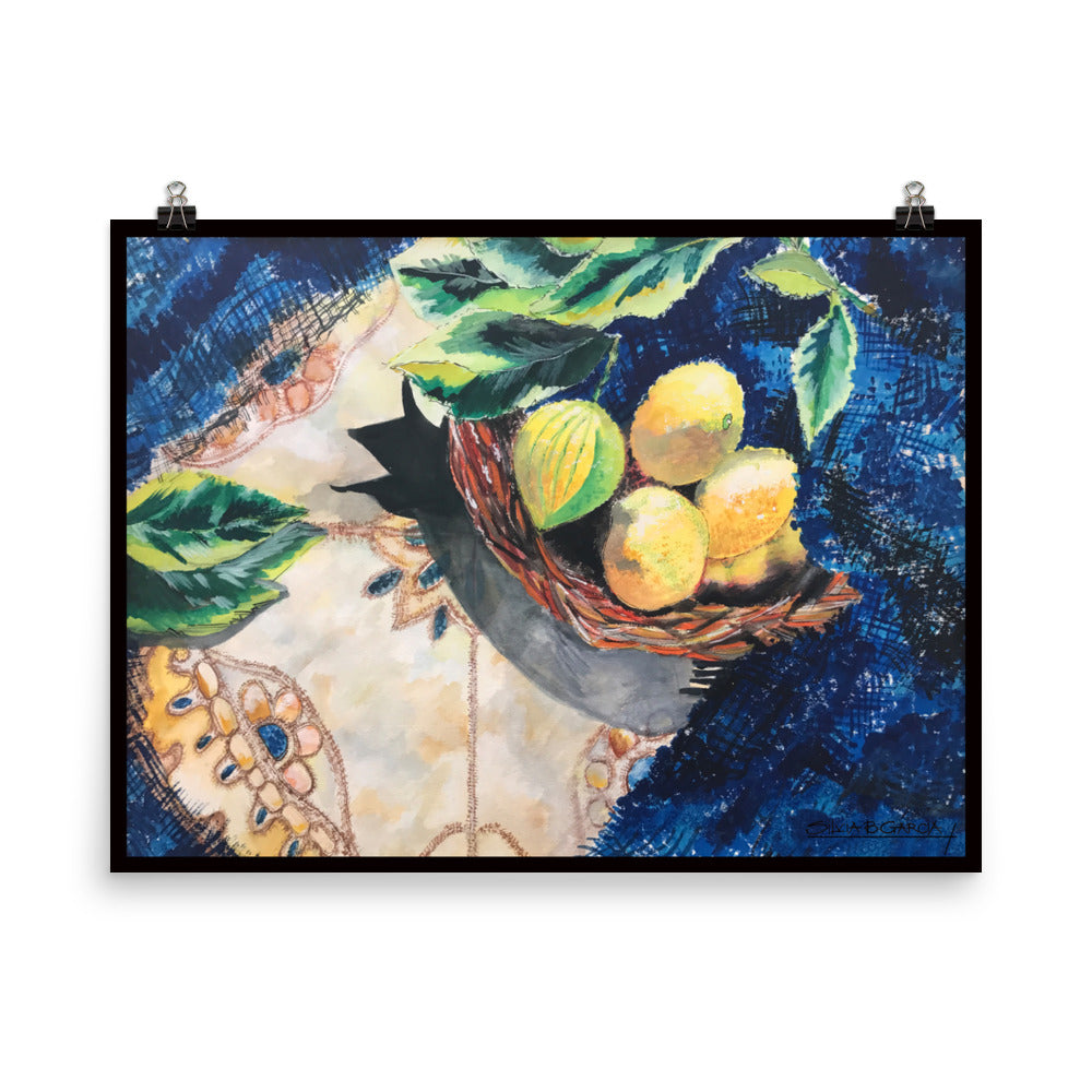 "Lemon Basket 18""x24"" Poster Print"