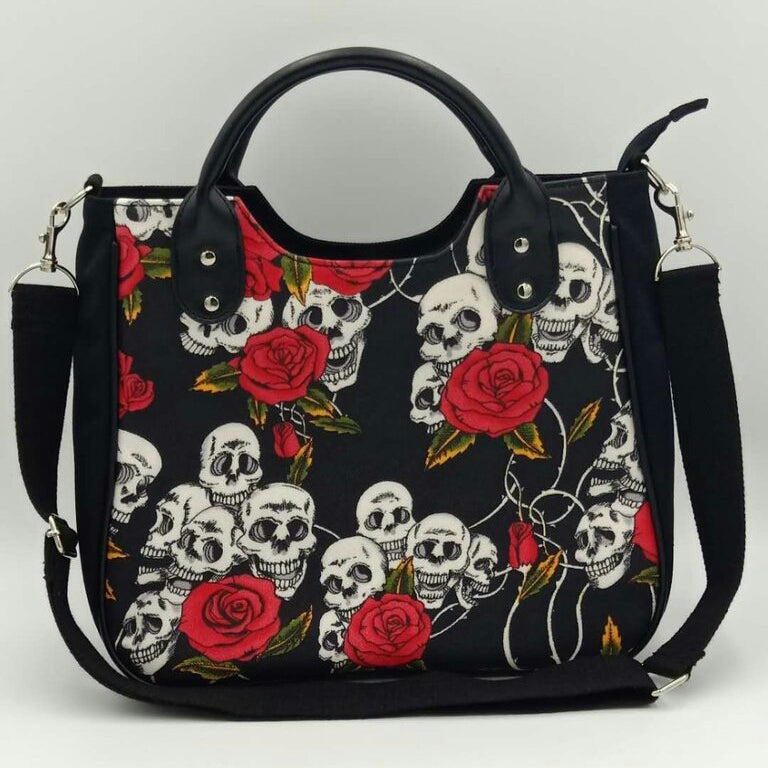 Gothic Skulls and Roses Halloween Bag