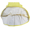 Sleeveless Yellow Cotton Summer Dress - Vertical Stripe-Lilypond Kids