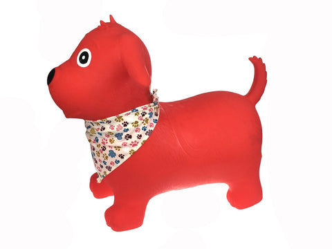 Bouncy Rider Red Dog W Scarf-Lilypond Kids