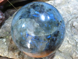 Polished Labradorite Ball x 1  from Tulear, Madagascar