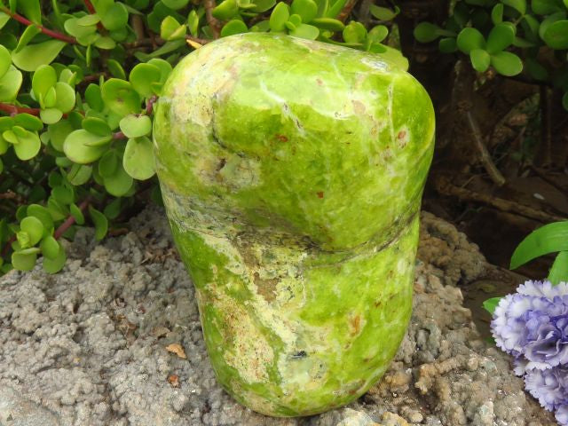 Polished Large Green Opal Standing Display Freeform x 1 from Madagascar - TopRock