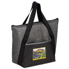 INSULATED NON-WOVEN AND PEARL WOOL BLEND TOTE BAG - Y2KC1411