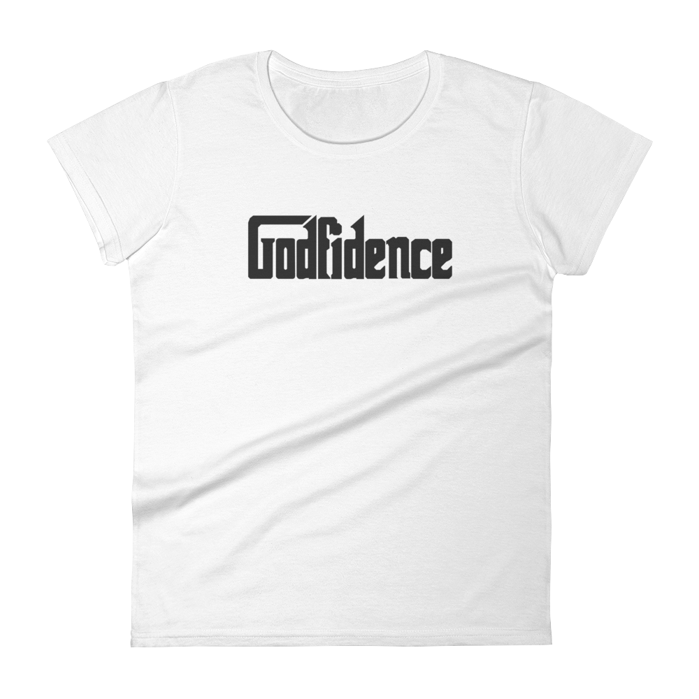 "Women's short sleeve t-shirt ""Godfidence"""