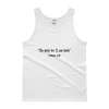"Tank top: ""Be holy for I am holy"""