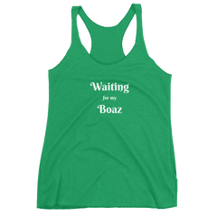 Women's Racerback Tank: Waiting for my Boaz