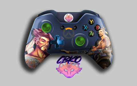 Overwatch inspired Hanzo fan art Xbox one controller