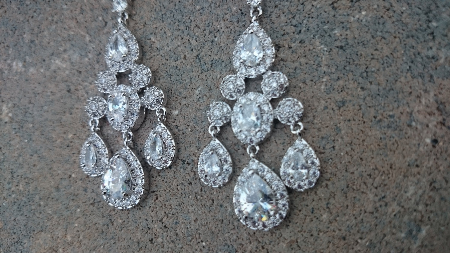 Bridal Earrings, CZ Bridal Chandelier Earrings, Pageant Earrings, Statement Luxury Earrings, Pear Oval Drop Dangle Earrings, Bridesmaid Gift