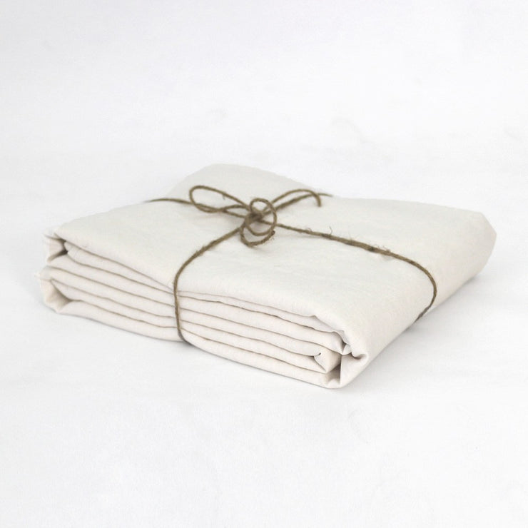 Chalk Linen Duvet Cover Well Folded
