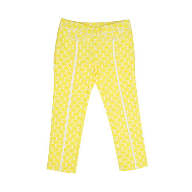Yellow Wavy Dots with White