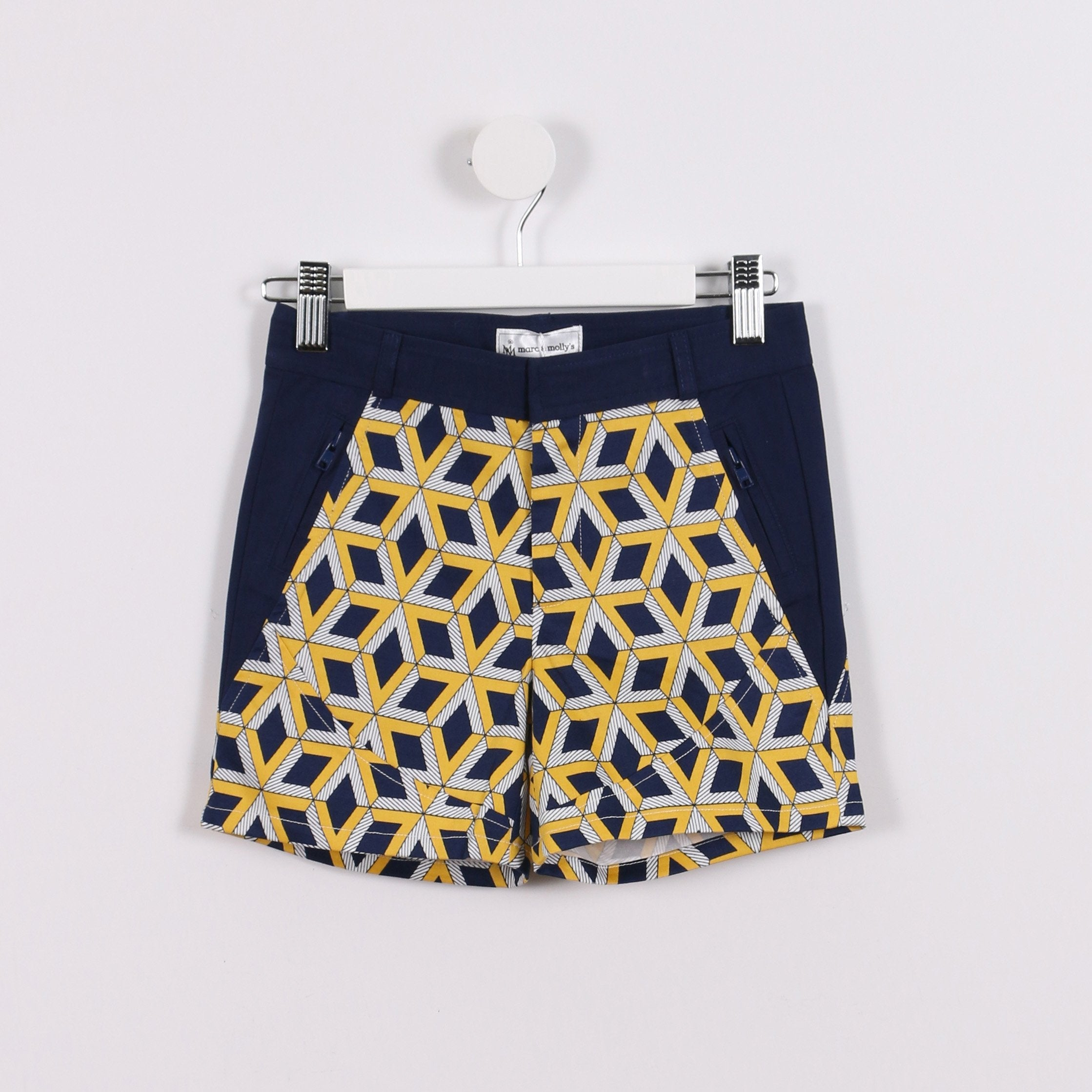 Navy and Yellow Print