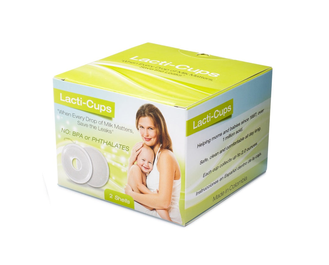 Original Lacti-Cups ~NO PLUGS INCLUDED~ Breastmilk Collectors. Milk Catcher for Breastfeeding Relief, Protects Cracked, Sore Nippls (2 Pack)