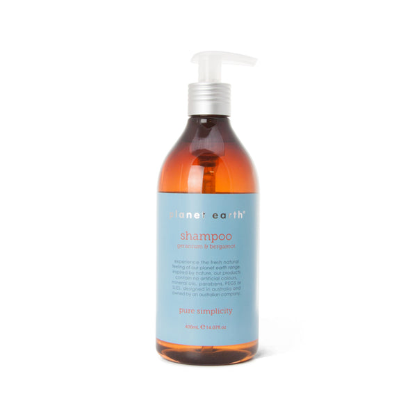 400ml Shampoo - Geranium & Bergamot - The Grain Shop Online Store