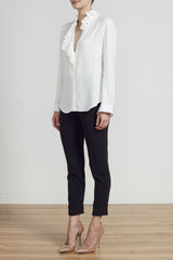 ROYAL RUFFLE SHIRT - IVORY