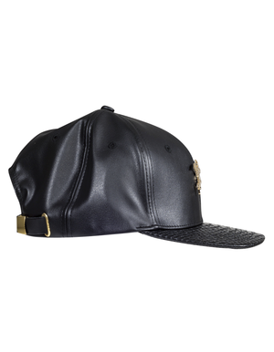 SNAPBACK CAP - SNAKESKIN & LEATHER