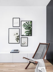 Minimalist art Daylight poster by Opposite Wall with botanical photography - Living room with a chair