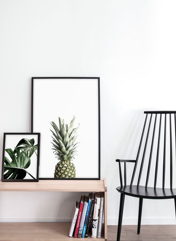 Scandinavian art print by Opposite Wall with art photo of pineapple called Welcomeness - in home decor