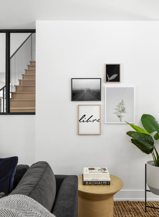 Young Fern modern minimalist photography poster by Opposite Wall - Living room - Gallery Wall