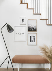 Farm Landscape - Sand desert modern minimalist photography poster by Opposite Wall - Hallway with a staircase