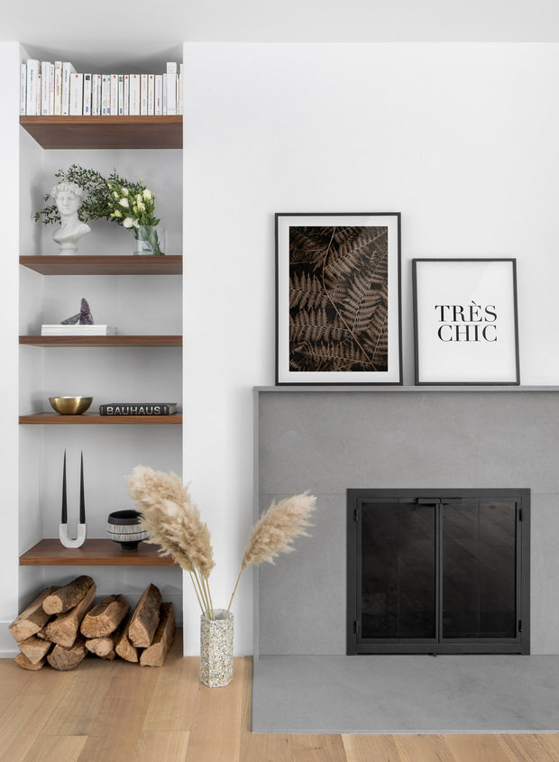 Fern modern minimalist photography poster by Opposite Wall - Duo - Fireplace