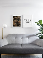 Hydrangeas modern minimalist photography poster by Opposite Wall - Living room with gallery Wall duo
