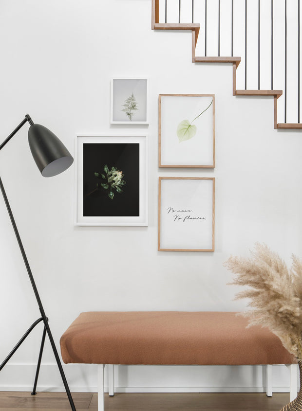 Blooming Plant modern minimalist photography poster by Opposite Wall - Hallway with staircase