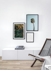 Fiery Plants modern minimalist photography poster by Opposite Wall - Living room - Trio