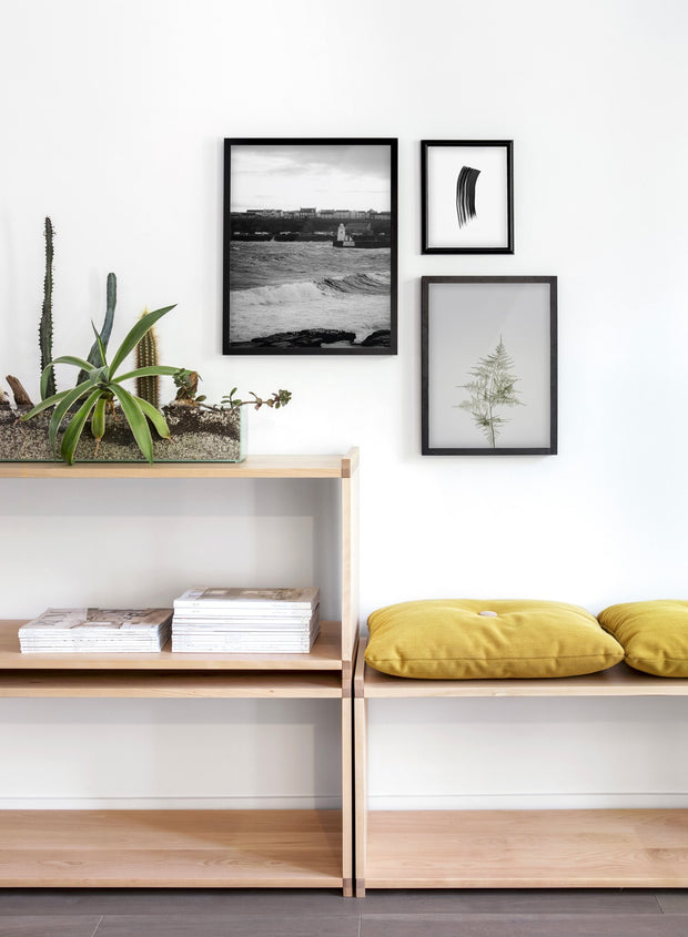 Seaside Town modern minimalist photography poster by Opposite Wall - Living room